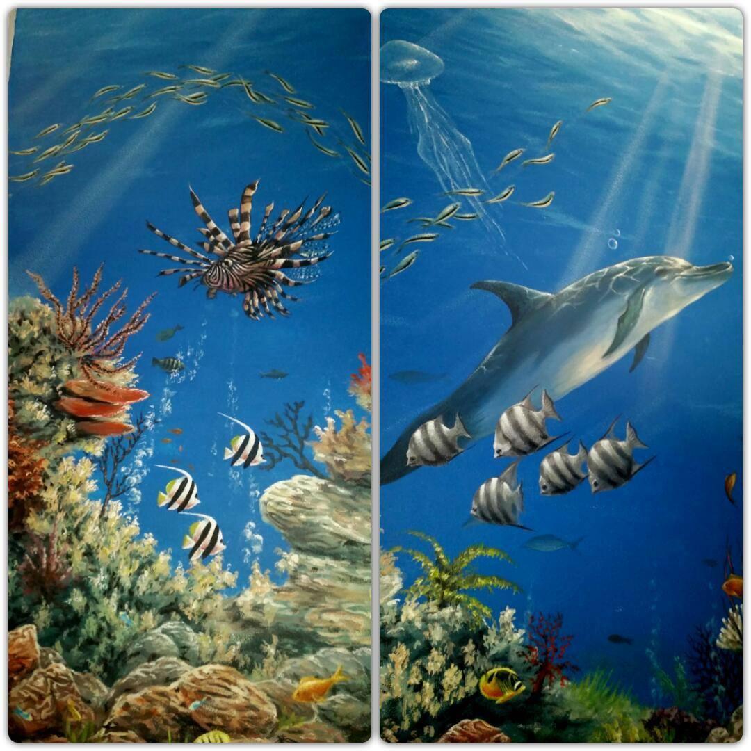 onderwaterwereld muurschildering